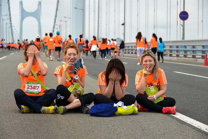 Gwangan Bridge Race MiRun happy girls Storming the Bridge: Busan Hosts Koreas Greatest Race