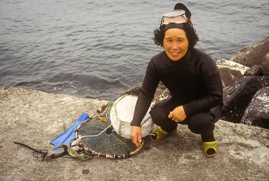 A haenyo with her equipment Echoes of Jeju: A Photo Essay of Korean Island Life in 1979 (Part 1)