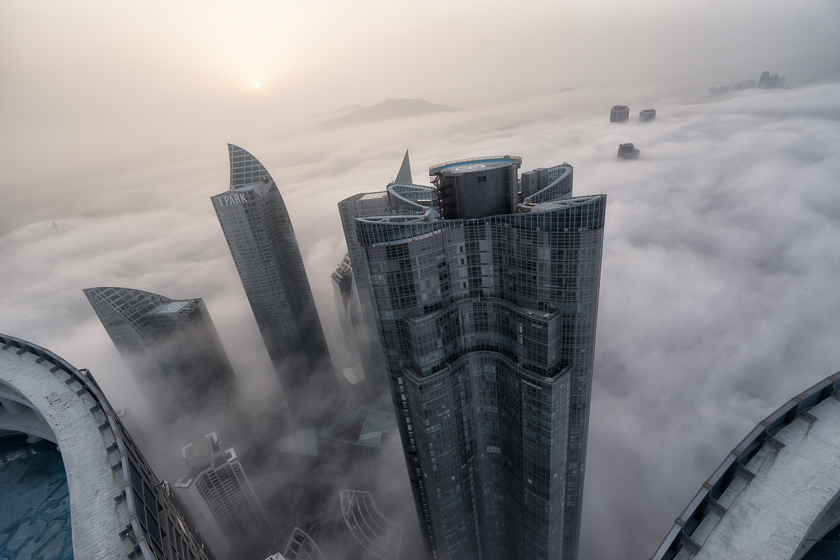 Cloud City: Rooftopping in Foggy Busan, Korea