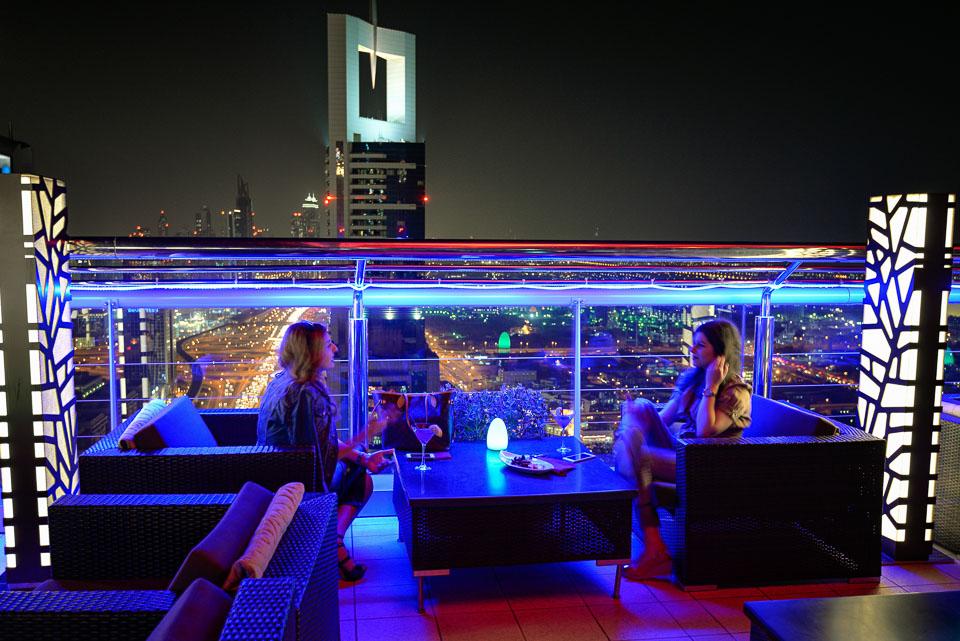 Adventure, Dubai, King Zayed Road, Level 43 Rooftop Bar Lounge, Middle East, Nomad Within, Peter DeMarco, Sheraton 4 Points, UAE, United Arab Emirates, cityscape, light trails, night, photography, travel