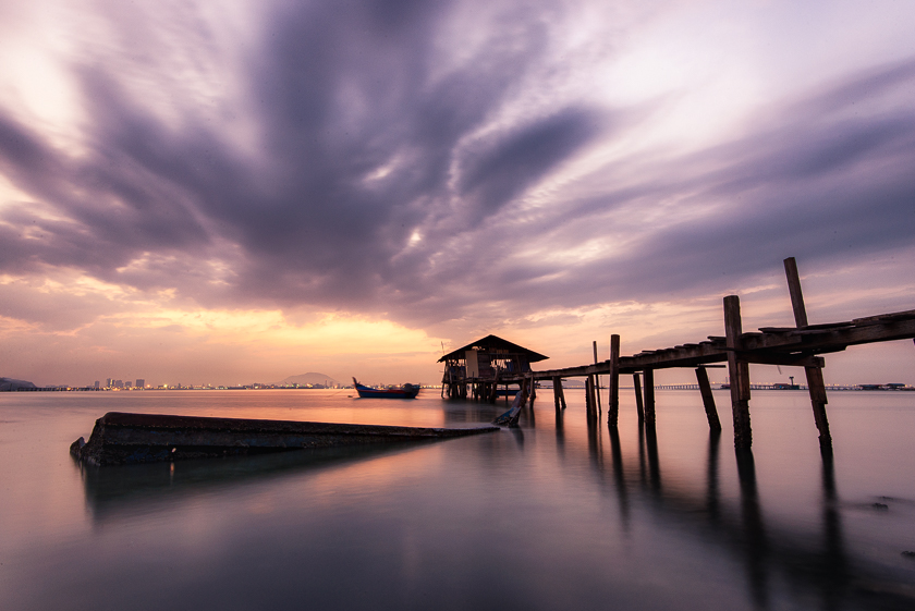 Long Exposure Photography at Fisherman's Jetty | Penang, Malaysia